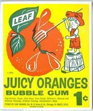 Vintage Juicy Oranges Leaf Gum Ball Machine Vending Display Card 1960s NOS New