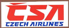 CSA Czech Airlines LOGO Label Sticker