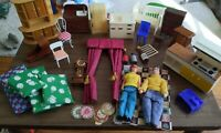 Vintage Toy Dollhouse Miniatures Furniture Lot Over 25 Pieces