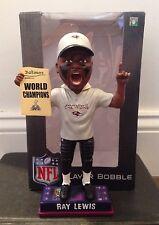 Ray Lewis Super Bowl XLVII Champions Shirt Hat Bobblehead, Baltimore Ravens, NFL