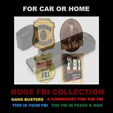 A HUGE FBI COLLECTION OF 654 OLD TIME RADIO SHOWS. ENJOY IN YOUR CAR OR HOME!