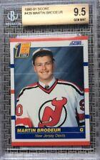 1990 SCORE HOCKEY MARTIN BRODEUR ROOKIE CARD BGS 9.5 GEM