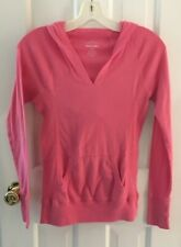 Old Navy Pink Coral Hoodie Pullover Shirt Junior size XS Kangaroo Pocket