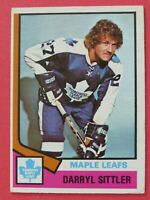1974-75 OPC O-Pee-Chee Darryl Sittler # 40 - Toronto Maple Leafs - Excellent