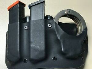 Fits Glock .40/9mm Double mag and Handcuff Pouch