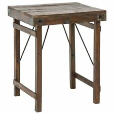 Kalalou Recycled Wooden Side Table With Folding Legs