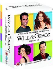 WILL & GRACE 1-8 (1998-2006) COMPLETE ORIGINAL TV Seasons Series - UK DVD not US