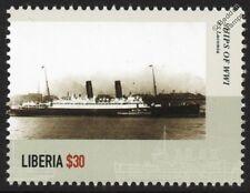 La première guerre mondiale ss/rms/hms mountains (1911) royal navy armed merchant croiseur navire de guerre timbre