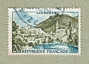 FRENCH POSTAGE - LOURDES 20F POSTES FRANCE 1958 STAMP