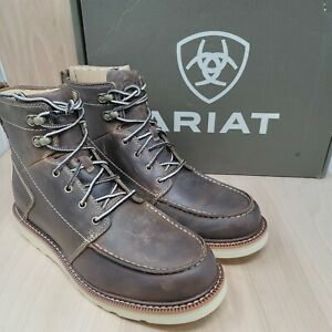 Ariat Men's Recon 6 inch Lace-up Wedge Sole Boots Brown 10027397 Size 10.5 M