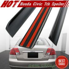 Unpainted Honda Civic 7th Sedan Rear Trunk Lip Spoiler Wing 01-05 DX LX