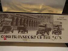CORGI TRANSPORT OF THE 30'S - 3 FORD MODEL T VANS - SCARCE #2