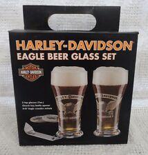 Harley Davidson Eagle Beer Glass Set