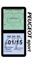 Porte vignette assurance PEUGEOT SPORT double étui voiture Stickers auto rétro