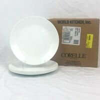NEW 6 PIECE CORELLE WINTER FROST WHITE DINNER PLATE SET FREE SHIPPING
