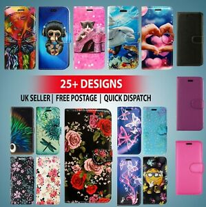 FOR SAMSUNG GALAXY S9 AND MORE LEATHER WALLET BOOK CARD CASH TWO SLOT PATTERN
