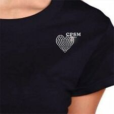 LOVE HEART SOLID Hotfix Crystal Rhinestone Motif Iron On Transfer Fashion Design