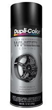 Duplicolor Hwp104 Satin Matte Black Wheel Rim Coating 12oz Aerosol Spray Paint