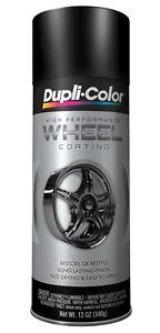 Duplicolor HWP104 Satin / Matte Black Wheel Rim Coating 12oz Aerosol Spray Paint