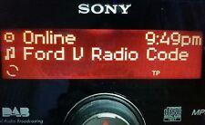 ford radio code unlock  M & V Serial - Escort - Fiesta - Focus - Mondeo -Transit