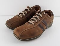 SKECHERS 4400 Men's Size 8.5 Brown Leather Casual Walking Lace Up Oxford Shoes