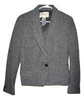 Isabel Marant Etoile Gray Wool Herringbone Short Blazer Tweed Jacket 1501 size 3