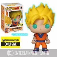 Super Saiyan Goku Glow GITD Dragon Ball Z Funko Pop Vinyl Figure EE STICKER EXC