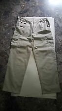 Bianco Pantaloni usato uomo gamba dritta tasche laterali