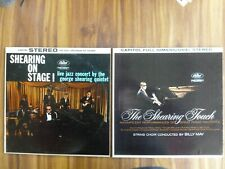 """LOT OF 2 GEORGE SHEARING 12"""" LP'S - SHEARING ON STAGE & THE SHEARING TOUCH"""