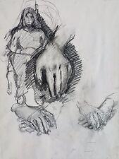 "Michael Steiner, ""Woman Series #8"",  Original Charcoal, 24""h x 18""w image"