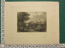 Art Prints 1844 Dated Antique Print ~ Durham Castle Norman Doorway Lower Gallery Billings