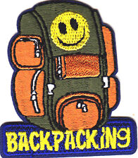 """""""BACKPACKING""""-  SPORTS - HIKER - OUTDOORS - CAMPING - IRON ON EMBROIDERED PATCH"""