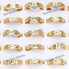 10pcs Wholesale Jewelry Gold Plated Stainless steel Rings