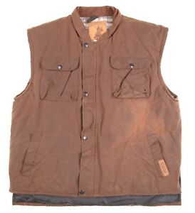Stockrider Brown 100% Australian Oilskin Cotton Insulated Blanket Lined Vest M