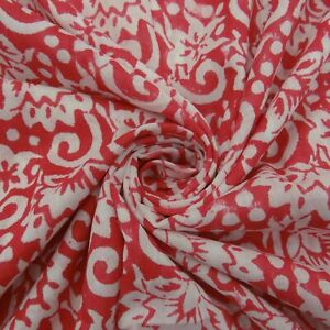 Red Gad Vegetable Color By The Yard Printed Fabric Dressmaking Clothing Craft 01