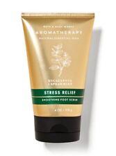 Bath & Body Works Aromatherapy Stress Relief Smoothing Foot Scrub 4 fl oz New