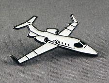 Metall Emaille Anstecker Brosche Learjet Flugzeug Airliner Pilot Hobel Spotter