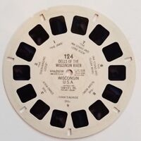 Viewmaster Reel Dells on the Wisconsin River Sawyers 124 1950 3D Photos Pictures
