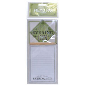 'Let the Evening BeGin' Gin Themed Memo Pad Note Book Fridge Magnet Ladies Gift