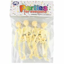 PACK OF 4 SMALL SKELETONS HALLOWEEN PIRATE PARTY FAVOURS PROPS DECORATIONS