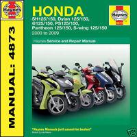 Honda Scooter SH125 SES125 NES125 PES125 FES125 Haynes Manual 4873 NEW