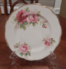 """ROYAL ALBERT """"AMERICAN BEAUTY"""" PATTERN SALAD PLATE (S) 8"""" MADE IN ENGLAND"""