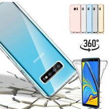 For Samsung Galaxy Note 10+/S7/S8/S9/S10 360 Full Body Clear Rubber Case Cover