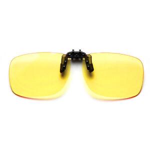 Cyxus Clip-On Yellow Lens Blue Light Filter Computer Glasses Anti Eyestrain UV