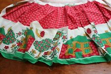 Vintage Cotton Waist Aprons Posies Houses Birds