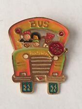 Metal Bus Brooch Pin