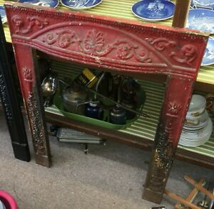 Cast Iron Fireplace Surround Red