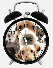 "Cute Puppy Dog Alarm Desk Clock 3.75"" Home or Office Decor W71 Nice For Gift"
