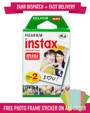 20 Shots Fuji Instax Mini Film for Fujifilm Mini 8 7s & Mini 90, 50 Cameras