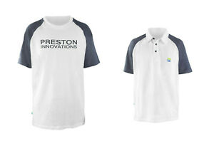 Preston Innovations White T-shirts or Polos Assorted Sizes Fishing Clothing